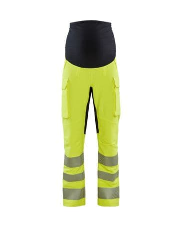 Blaklader 7100 4-Way Stretch High Vis Maternity Trousers (High Vis Yellow/Black)