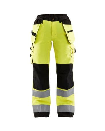 Blaklader 7156 Ladies High Vis Trousers (High Vis Yellow/Black)