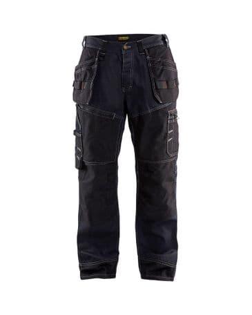 Blaklader X1500 1140 X1500 Trousers Denim/Cordura (Navy Blue/Black)