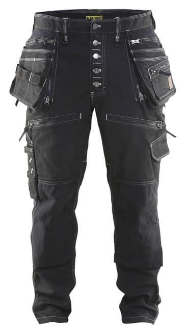 Blaklader X1900 Craftsman Stretch Trousers Denim/Cordura (Black)X1999