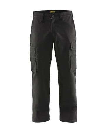 """CLEARANCE Blaklader 1400 Cargo Trousers 100% Cotton (Black) C154 38""""W 34""""L"""