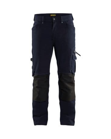 CLEARANCE Blaklader 1989 Trouser 4-Way Stretch Without Nail  Pockets X1900 (Dark Navy/Black) C46 32R