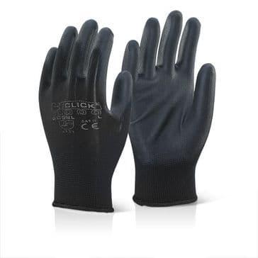 Click EC9 PU Coated Work Glove (Black - Large)