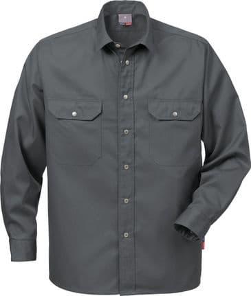 Fristads Cotton Shirt 720 BKS (Dark Grey)