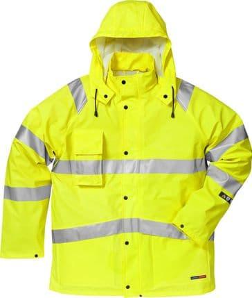 Fristads Flame High Vis Rain Jacket CL 3 4845 RSHF (Hi Vis Yellow)