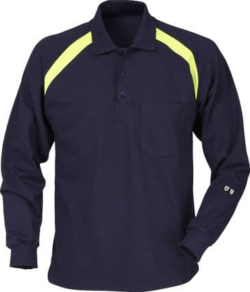 Fristads Flame Long Sleeve Polo Shirt 784 PFLA (Dark Navy)