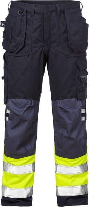 Fristads Flamestat High Vis Craftsman Trousers CL 1 2074 ATHS (Hi Vis Yellow/Navy)