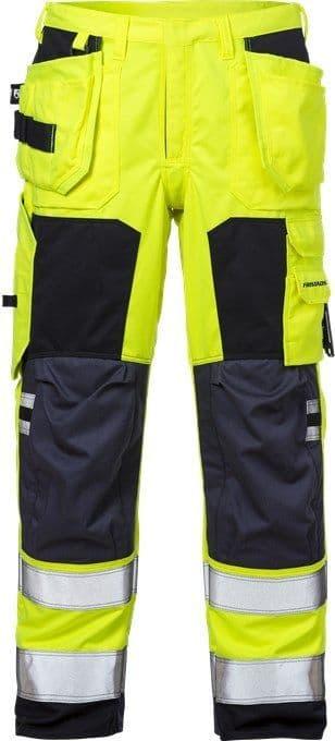 Fristads Flamestat High Vis Craftsman Trousers CL 2 2075 ATHS (High Vis Yellow/Navy)