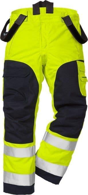 Fristads Flamestat High Vis Winter Trousers CL 2 2085 ATHS (Hi Vis Yellow/Navy)