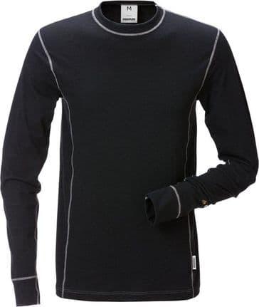Fristads Flamestat Long Sleeve T-Shirt 7026 MOF (Black)