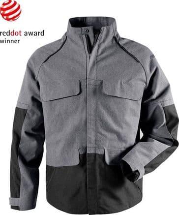 Fristads Green Craftsman Jacket 4538 GRN (Grey / Black)