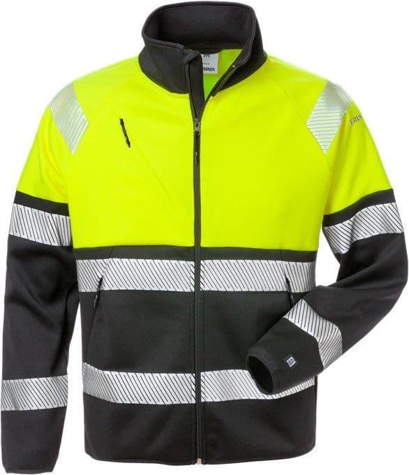 Fristads High Vis Sweat Jacket Class 1 4517 SSL (High Vis Yellow/Black)