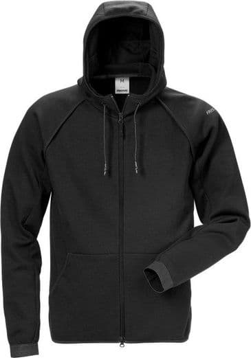 Fristads Hooded Sweat Jacket 7462 DF (Black)