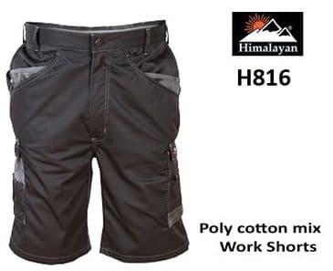 Himalayan ICON Work Shorts (Black H816)