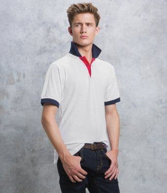 Kustom Kit Contrast Collar & Placket Polo KK404