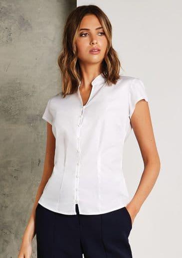 Kustom Kit KK727 Womens Cap Sleeve V Neck Tailored Continental Blouse