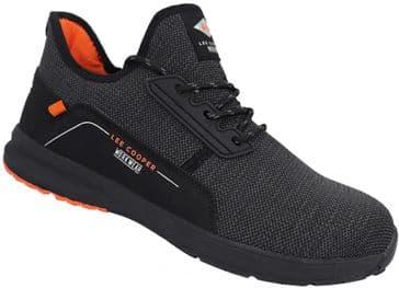 Lee Cooper LCSHOE144 Lightweight Safety Trainer Shoe (Black)