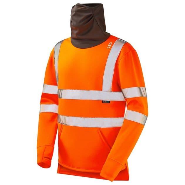Leo Workwear Combesgate ISO 20471 Class 3 Snood Sweatshirt