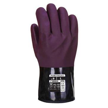 Portwest AP90 Chemtherm Chemical Resistant Glove (Purple/Black)