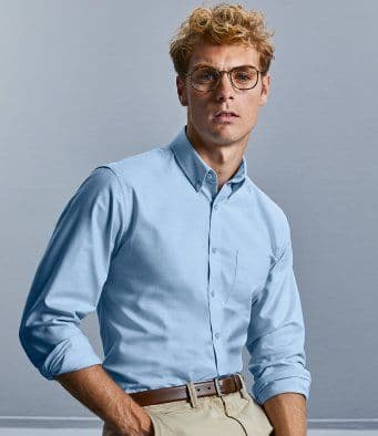 Russell 928M Tailored Long Sleeve Oxford Shirt