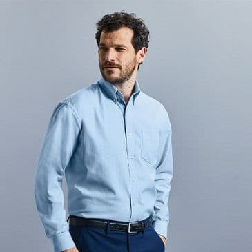 Russell 932M Long Sleeve Easy Care Oxford Shirt