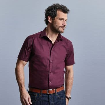 Russell 947M Short Sleeve Easy Care Fitted Shirt
