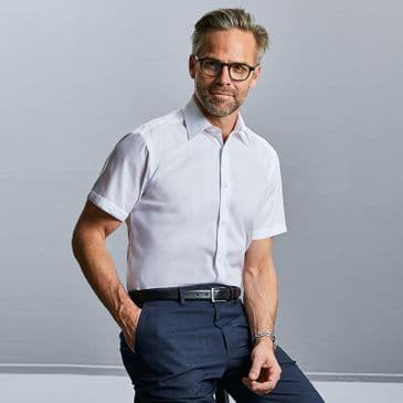 Russell 959M Short Sleeve Tailored Ultimate Non-Iron Shirt