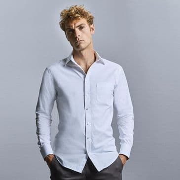 Russell 972M Long Sleeve Tailored Coolmax® Shirt
