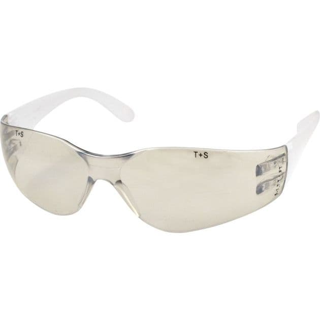 S/S Wraparound Safety Spectacles Glasses