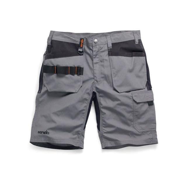Scruffs Trade Flex Stretch Holster Work Shorts | Graphite | TuffShop.co.uk