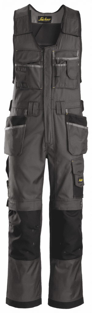 Snickers 0212 Duratwill Craftsmen One-Piece Holster Pocket Trousers (Muted Black / Black)