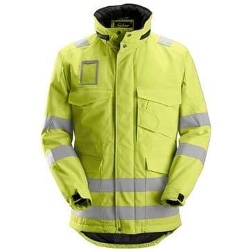 Snickers 1823 High-Vis Winter Long Jacket, Class 3 (High Vis Yellow)