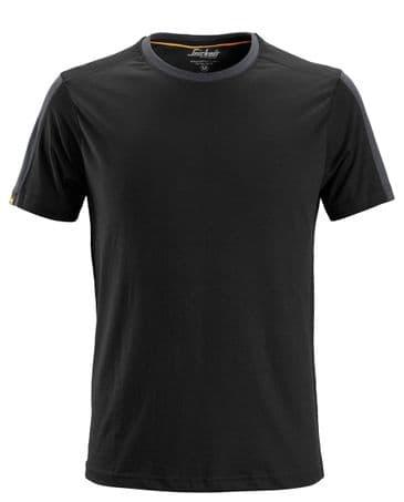 Snickers 2518 AllroundWork T-Shirt (Black / Steel Grey)
