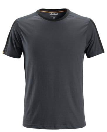 Snickers 2518 AllroundWork T-Shirt (Steel Grey / Black)