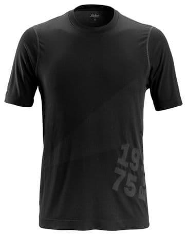 Snickers 2519 FlexiWork 37.5® Short Sleeve T-Shirt (Black)