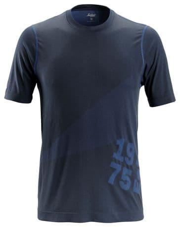 Snickers 2519 FlexiWork 37.5® Short Sleeve T-Shirt (Navy)