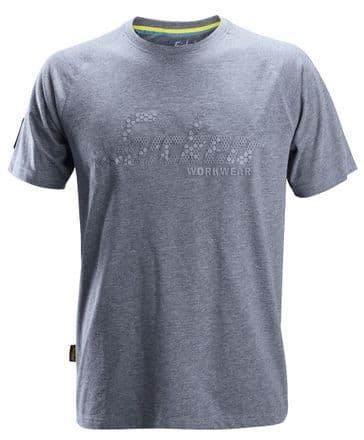 Snickers 2580 Logo T-Shirt (Dark Blue Melange)