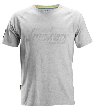 Snickers 2580 Logo T-Shirt (Grey Melange)