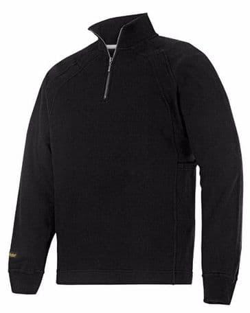 Snickers 2813 Half-Zip Sweatshirt with MultiPockets (Black)