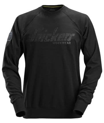 Snickers 2882 Crew Neck Logo Sweatshirt (Black)