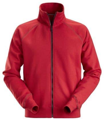 Snickers 2886 AllroundWork Full Zip Sweatshirt Jacket (Chili Red)