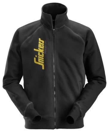 Snickers 2887 Logo Full Zip Jacket (Black)