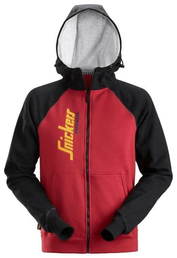 Snickers 2888 AllroundWork Logo Full Zip Hoodie (Chili Red / Black)