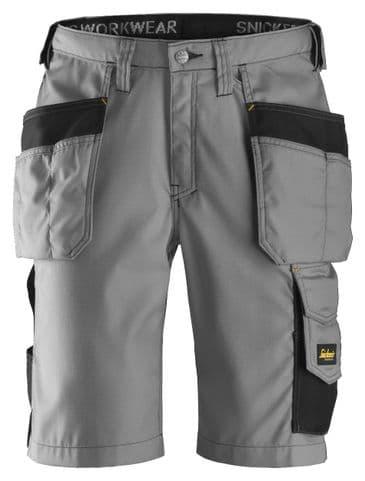 Snickers 3023 Ripstop Holster Pocket Shorts (Grey / Black)