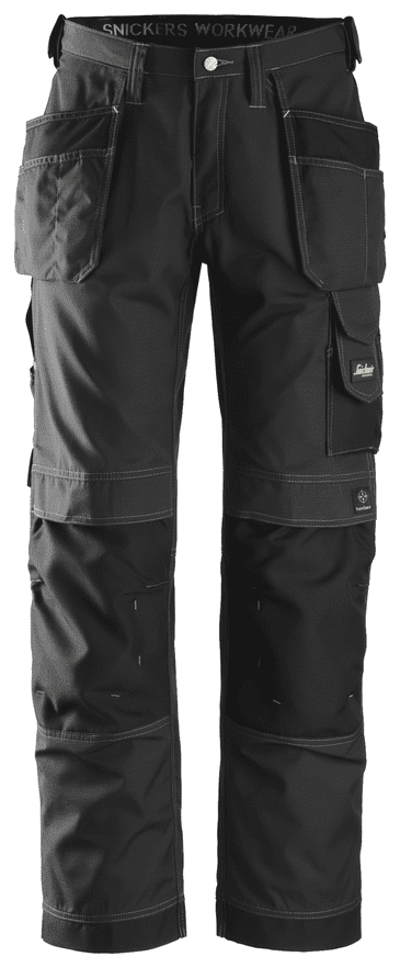 Snickers 3213 Ripstop Craftsmen Holster Pocket Trousers (Black)