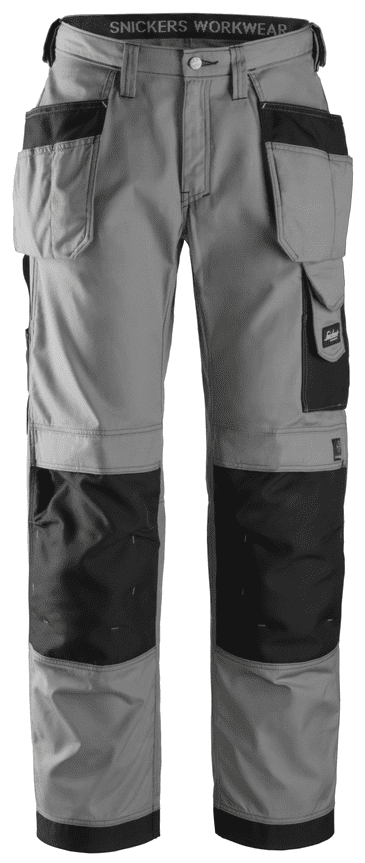 Snickers 3213 Ripstop Craftsmen Holster Pocket Trousers (Grey/Black)