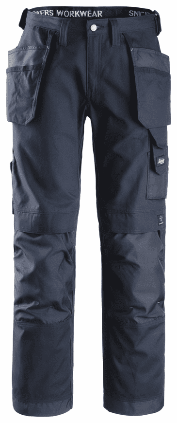 Snickers 3214 Canvas+ Craftsmen Holster Pocket Trousers (Navy)