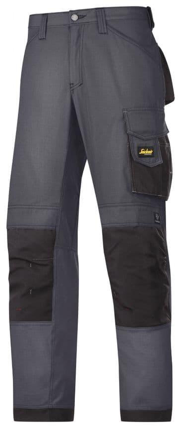 Snickers 3313 Rip-Stop Craftsmen Trousers (Steel Grey/ Black)