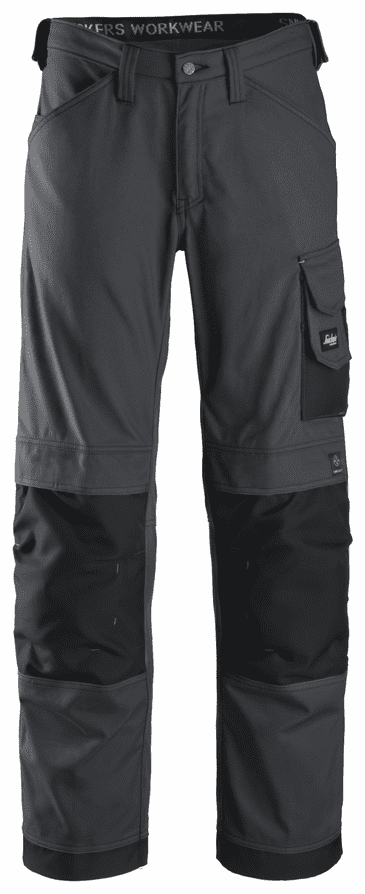 Snickers 3314 Canvas+ Craftsmen Trousers (Steel Grey/Black)