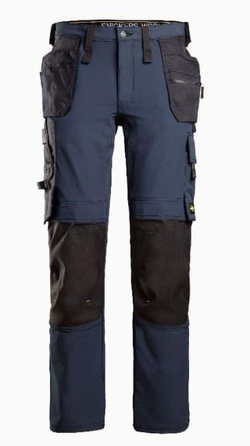 Snickers 6271 Full Stretch Trousers with Holster Pockets (Navy/Black)